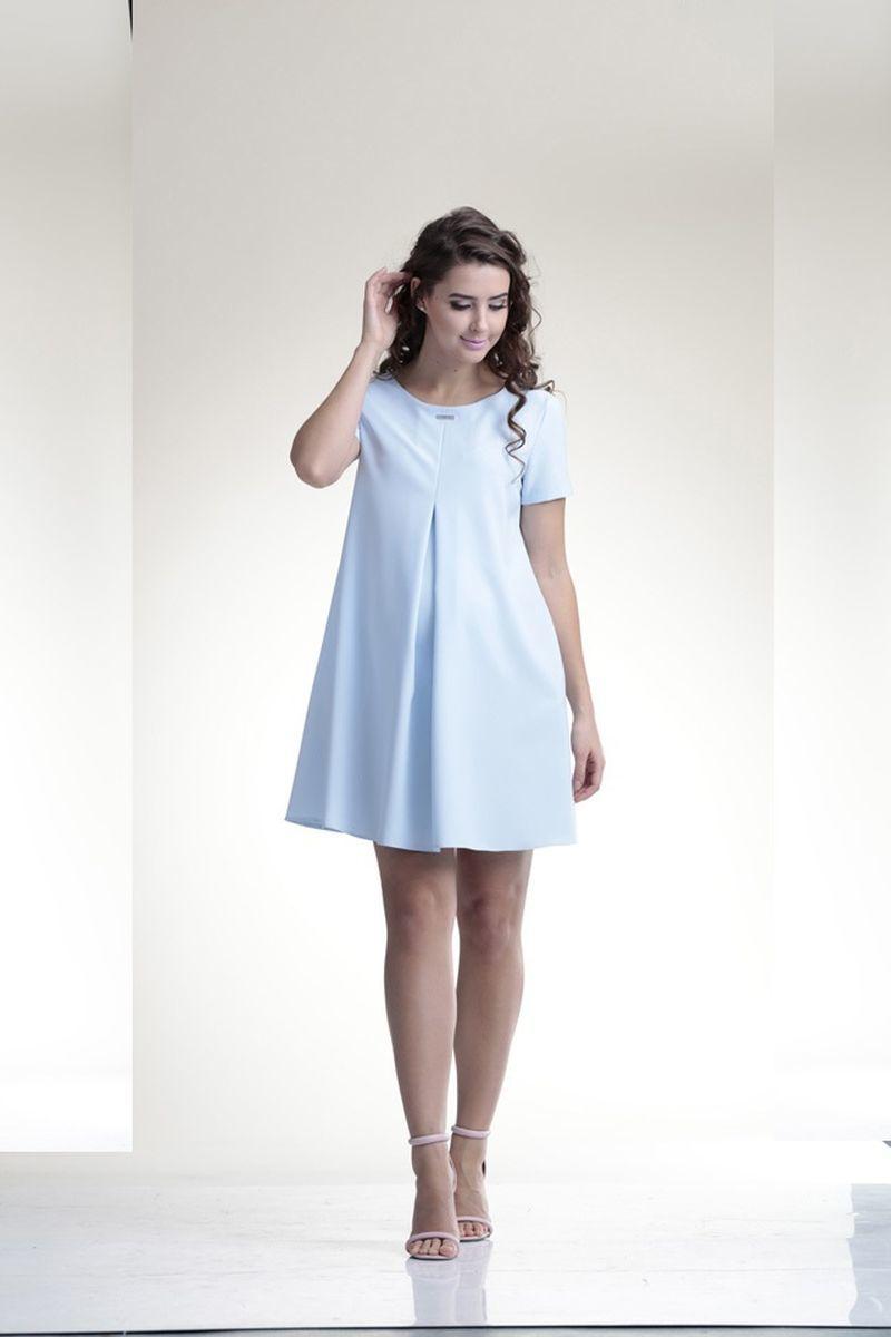 Платье 06149 голубой