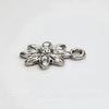 """Подвеска """"Цветочек"""" (цвет - античное серебро) 18х14 мм"""