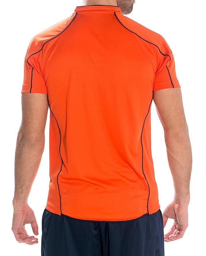 Мужская волейбольная футболка асикс T-shirt Volo (T604Z1 6950) оранжевая фото