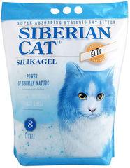 Наполнитель для кошек, Сибирская Кошка, Элита силикагель (синие гранулы)