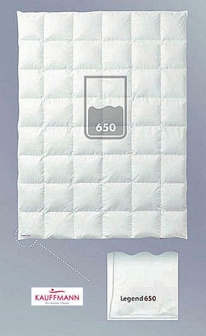 Одеяло пуховое очень легкое 220х240 Kauffmann Legend 650