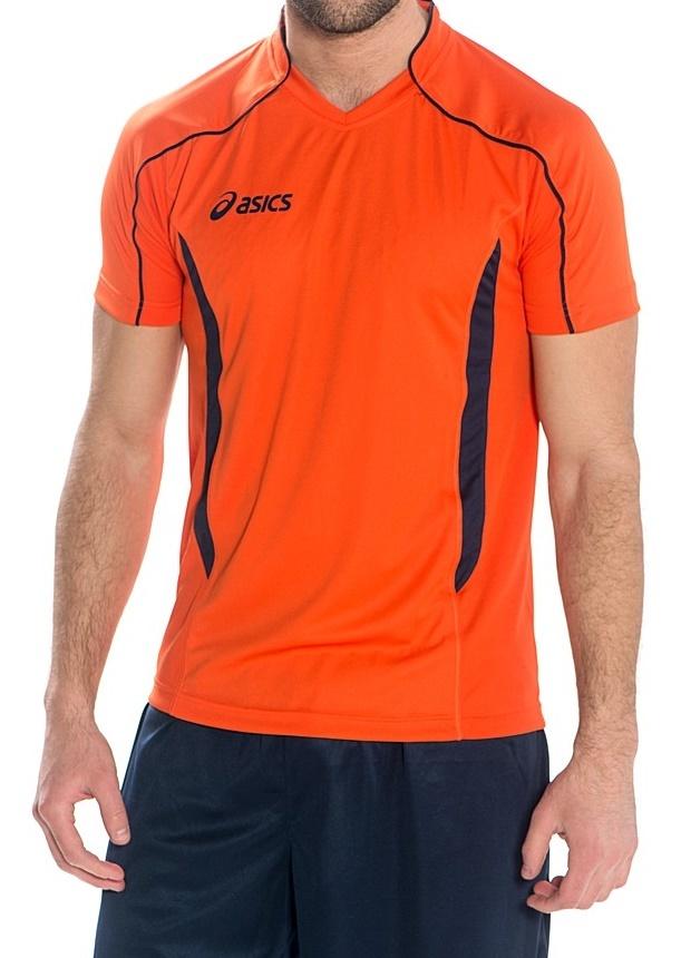 Мужская волейбольная футболка Asics T-shirt Volo (T604Z1 6950) оранжевая фото