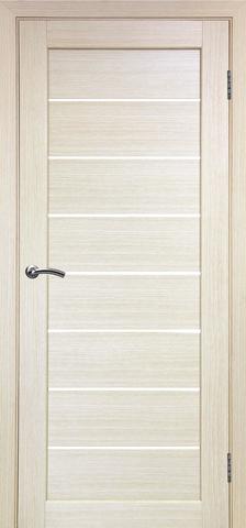 > Экошпон Optima Porte Парма 408.12, стекло Мателюкс, цвет беленый дуб, остекленная