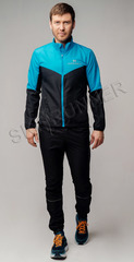 Беговой костюм Nordski Sport Light Blue/Black 2020 мужской