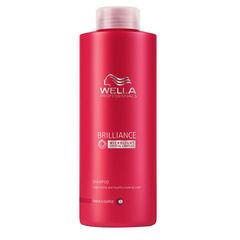 WELLA brilliance line шампунь для окрашенных жестких волос 1000мл.