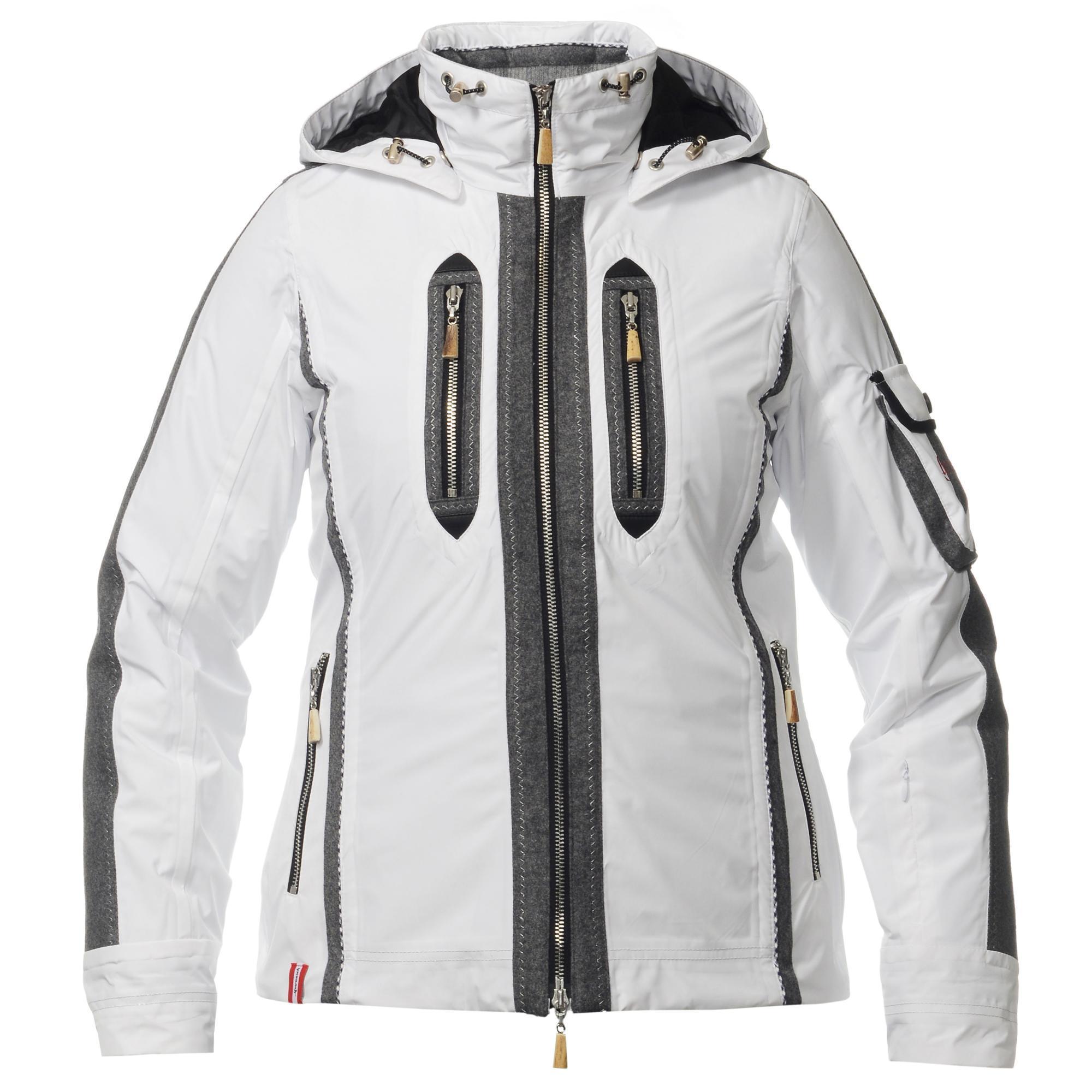 Женская горнолыжная куртка Almrausch Manning 320212-0105 белая фото