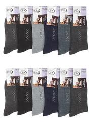 F12  носки мужские, цветные 41-47 (12шт)