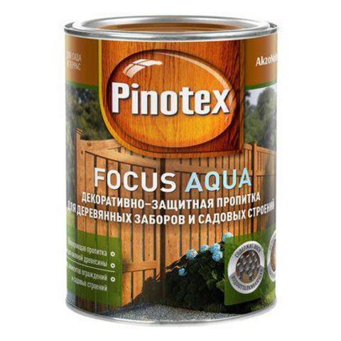 Деревозащитное средство для защиты заборов Красное дерево Pinotex Focus Aqua (Пинотекс Фокус Аква) 9л