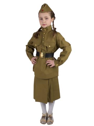 Костюм Солдатка подростковый (саржа)