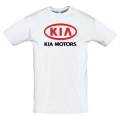 Футболка с принтом КИА (KIA Motors) белая 2