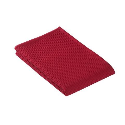 Полотенце для сауны 80x220 Vossen Rom Pique-U красное