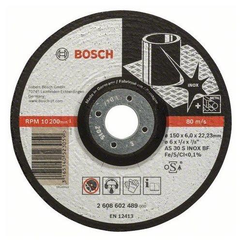 Зачистной круг 150х6х22,23 мм по нержавеющей стали Bosch Expert for Inox