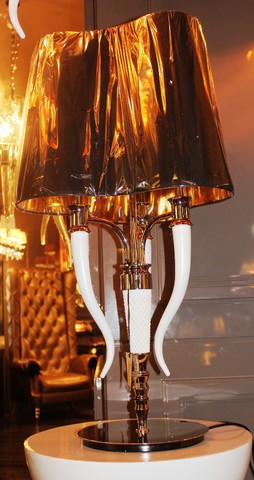 Visionnaire Esmeralda table  lamp  by Ipe cavalli ( black + gold  )