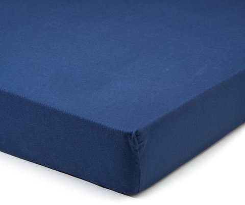 Простыня на резинке 180x200 Сaleffi Tinta Unito перкаль темно-синяя