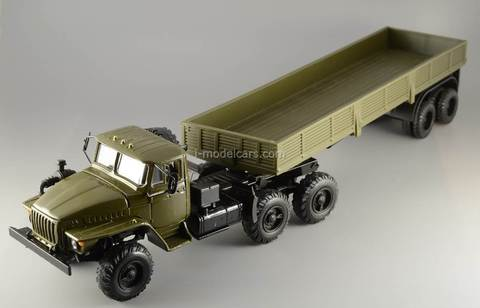 Ural-44202 with semitrailer khaki Elecon 1:43