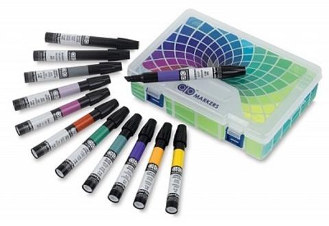 Набор маркеров CHARTPAK BASIC Plastic Travel Case, основные цвета, 12 цветов