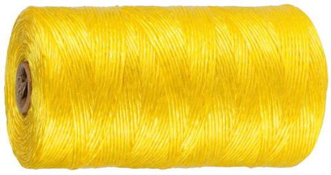 Шпагат STAYER многоцелевой полипропиленовый, d=1,5 мм, желтый, 110 м, 32 кгс, 0,8 ктекс