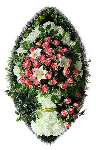 Венок на похороны элитный Ваза №2