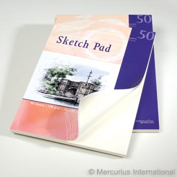 Бумага для рисования 50 листов 30х40 (Mercurius)