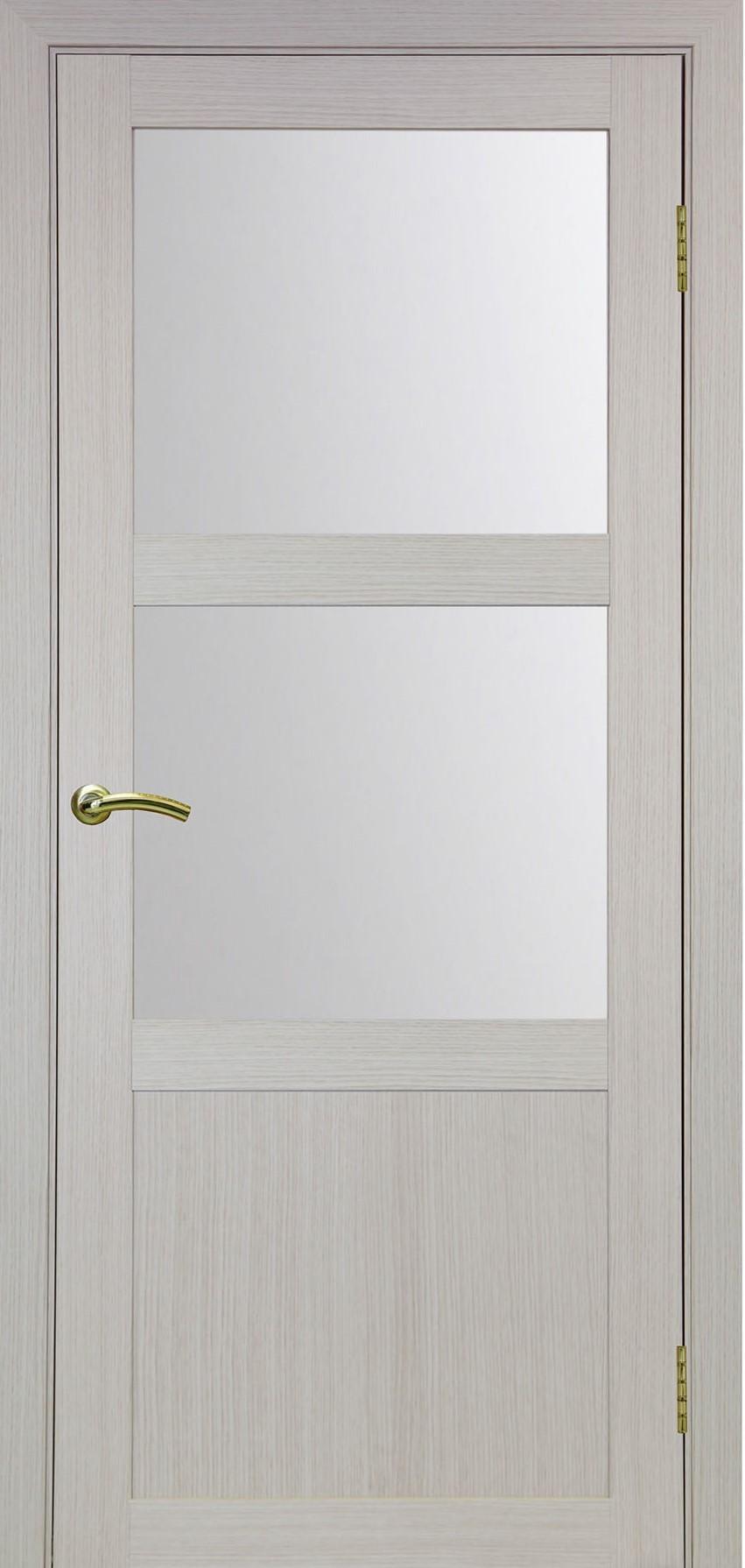 Турин 530 Дуб беленый FL ЭКО-шпон Остекление №221 Мателюкс, Двери OPTIMA PORTE
