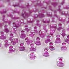 38628 Бисер 6/0 Preciosa Кристалл блестящий с ярко-фиолетовым центром