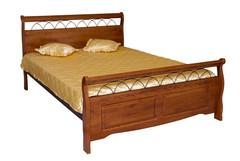 """Кровать """"Агата 836-SNS-KD"""" 90х200 см —  Rose Oak (Темная вишня) (MK-2131-RO)"""