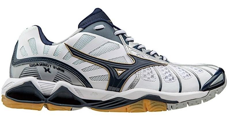 Мужские волейбольные кроссовки Mizuno Wave Tornado X (V1GA1612 14) белые