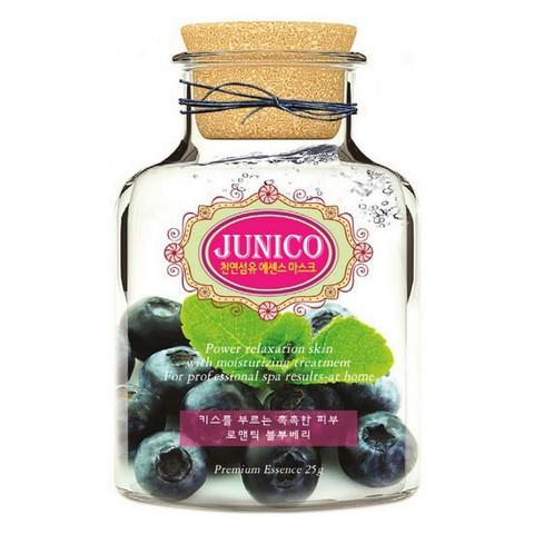 MIJIN Junico Маска тканевая c экстрактом черники  Junico Blueberry Essence Mask
