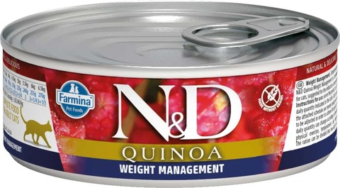 Консервы Famina N&D Cat Quinoa Weight Management для кошек