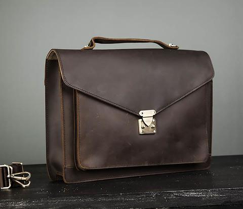 Мужской портфель из толстой кожи