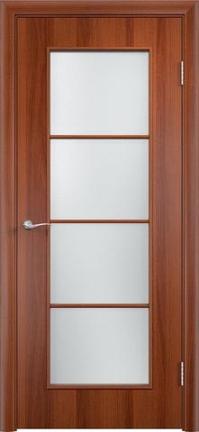 Дверь Верда С-8, цвет итальянский орех, остекленная