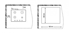 Варочная панель Korting HG 665 CTX схема