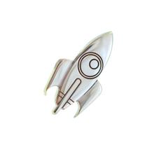 Серебряный значок ракета