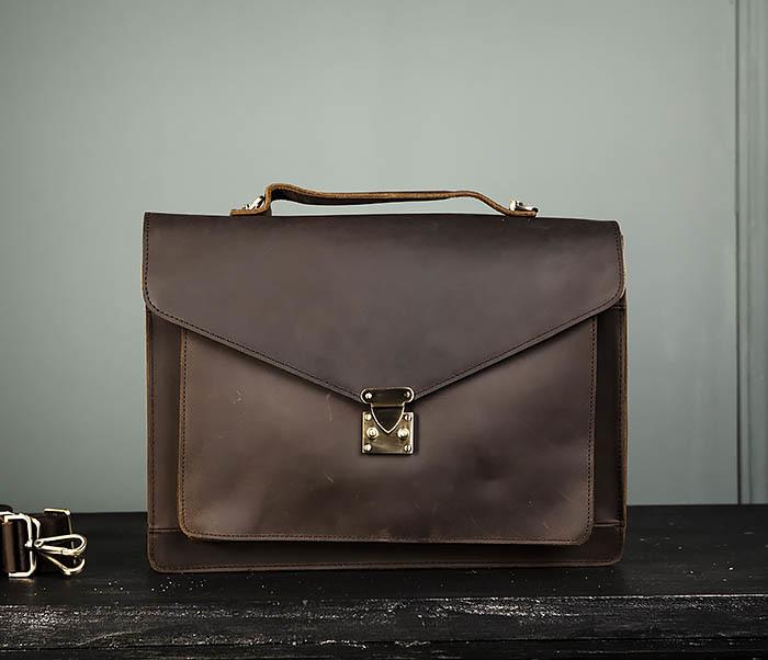 BAG471-2 Мужской портфель из толстой кожи фото 02