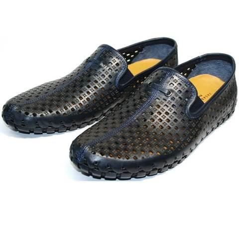 Летние туфли мужские стиль смарт кэжуал. Слипоны мокасины кожаные Vasari trend Firenze.