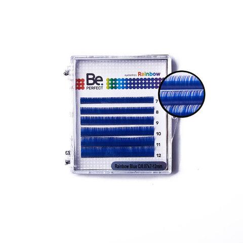 Цветные ресницы Be Perfect Rainbow Blue MIX (6 Линий)