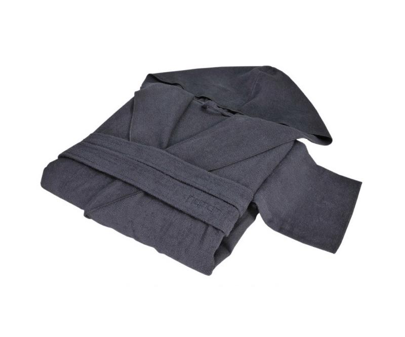 Элитный халат хлопковый Meyzer темно-серый от Hamam