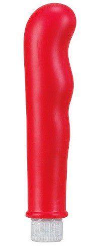 Классические: Красный вибромассажёр с наплывами Pure Vibes - 17,8 см.