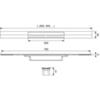 Душевой лоток Tece 80 см TECEdrainprofile 670810