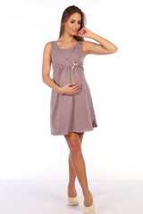 Мамаландия. Комплект для беременных и кормящих с отрезной кокеткой, горох/коричневый вид 2