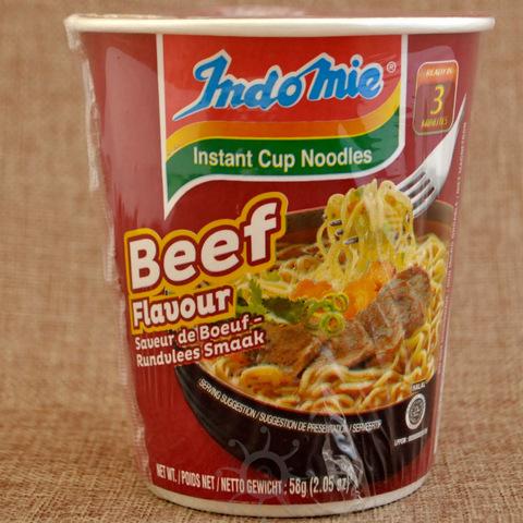 Лапша быстрого приготовления со вкусом говядины Indomie, 58 г