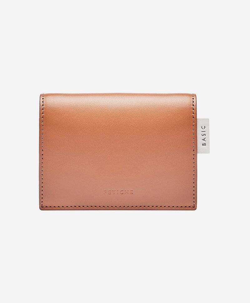 Мини портмоне карамельного цвета