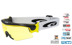 Лыжные очки-маска Goggle Provo Black-Yellow + Линза радуга