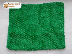 Ажурный топик зеленый