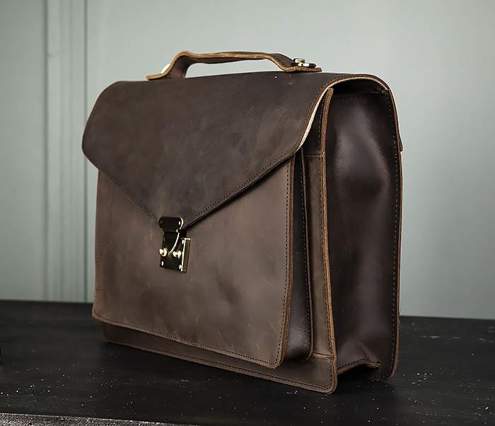 BAG471-2 Мужской портфель из толстой кожи фото 05