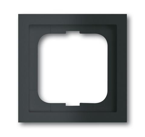 Рамка на 1 пост. Цвет Чёрный матовый. ABB(АББ). Future Linear(Фьючер Линеар). 1754-0-4532
