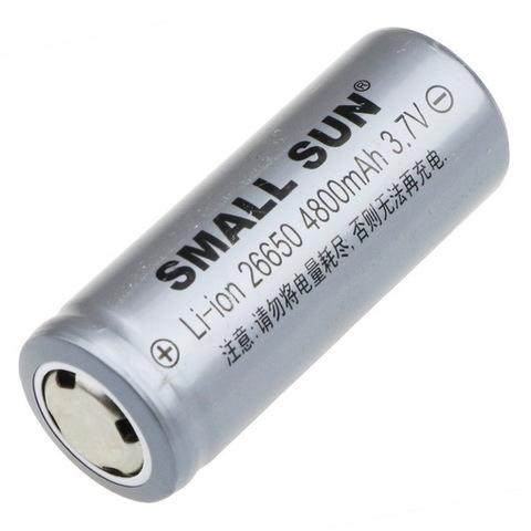 Аккумуляторы 26650 Small Sun 4800mAh (Li-ion)