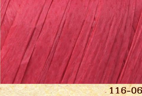 Пряжа Fibra Natura Raffia 116-06 спелая малина