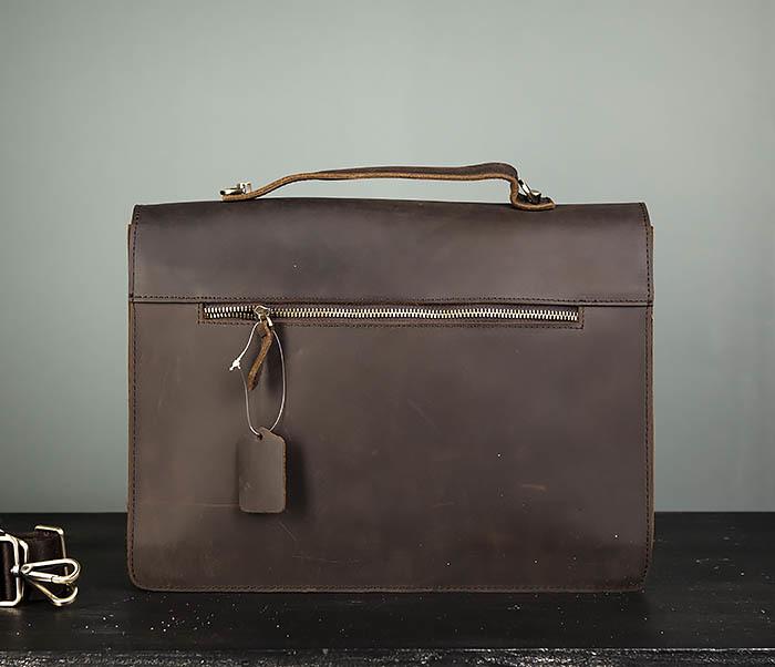 BAG471-2 Мужской портфель из толстой кожи фото 06