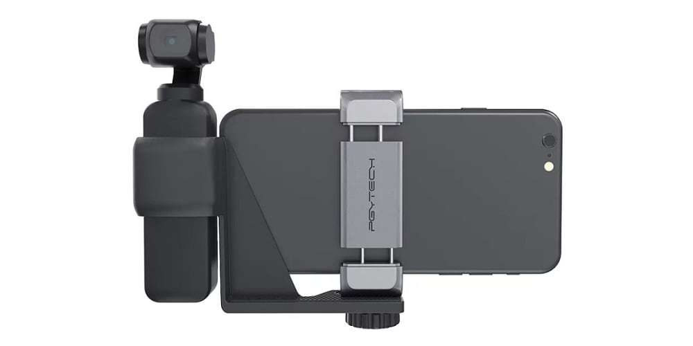 Держатель PgyTech OSMO Pocket Phone Holder Set P-18C-027 со смартфоном